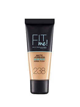 Fond de ten matifiant Maybelline New York Fit Me Matte & Poreles, 238 Rich Tan, 30 ml imagine produs