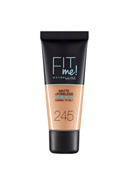 Fond de ten matifiant Maybelline New York Fit Me Matte & Poreles, 245 Classic Beige, 30 ml imagine produs