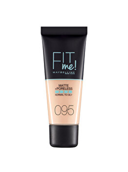 Fond de ten matifiant Maybelline New York Fit Me Matte & Poreles, 95 Fair Porcelain, 30 ml imagine produs