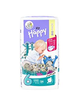 Scutece Happy Junior Extra, +16 kg, 54 buc