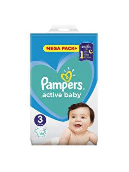 Scutece Pampers Active Baby Midi 3 Mega Box, 6-10 kg, 152 buc