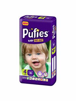 Scutece Pufies Baby Art 4 Maxi Maxi Pack, 56 buc