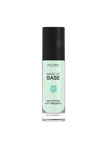 Baza de machiaj profesionala cu efect matifiant si anti-roseata INGRID Cosmetics, Green