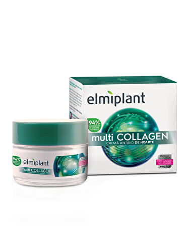 Crema antirid de noapte Elmiplant cu multi collagen