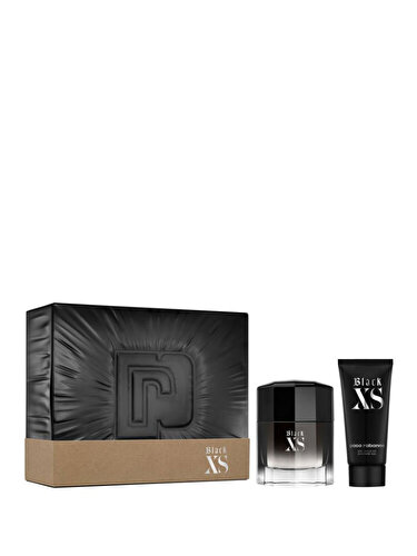 Set cadou Paco Rabanne Black XS (Apa de toaleta + Gel de dus) pentru barbati