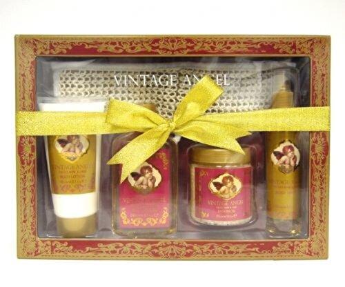 Set cadou Village Cosmetics SPA Vintage (gel de dus, lotiune de corp, spray de corp, sare de baie)