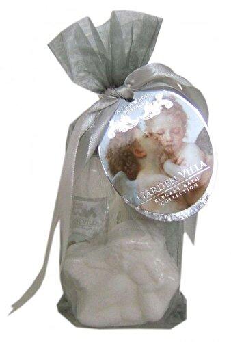 Set cadou Village Cosmetics Organza Argintiu (gel de dus, lotiune de corp, bila efervescenta de baie decorativa)