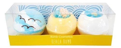 Set cadou Bomb Cosmetics Beach Bomb (trei bile efervescente de baie x 160 g)