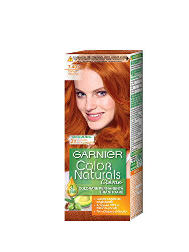 Vopsea de par permanenta cu amoniac Garnier Color Naturals 7.40 Cupru Pasional