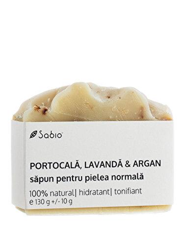 Sapun natural Sabio cu Portocala, Argan & Lavanda (piele normala)