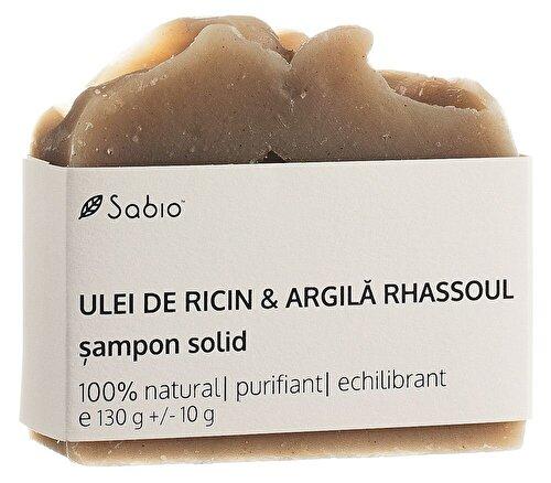 Sampon solid Sabio cu Ricin si Argila Rhassoul