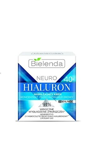 Crema de fata hidratanta Bielenda Neuro Hialuron cu concentrat 40+, pentru zi si noapte