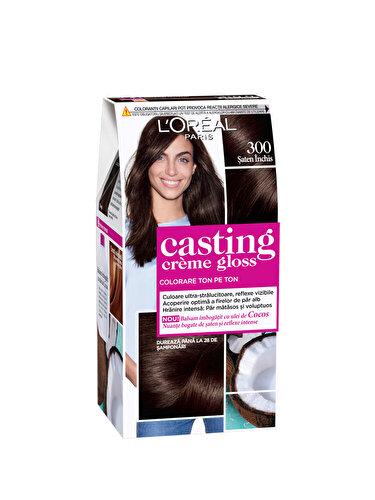 Vopsea de par semi-permanenta fara amoniac L'Oréal Paris Casting Creme Gloss 300 Saten Inchis