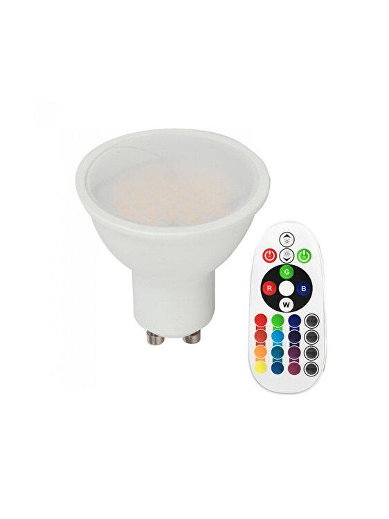 Bec Spot LED SMD, V-TAC, 2779, GU10, 3.5 W, RGB+4000K, Alb imagine