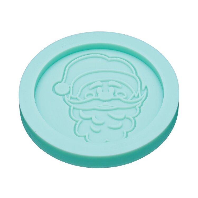 Forma silicon pentru martipan, Mos Craciun, Kitchen Craft, 6.4 cm, SDIFM23, silicon, Turcoaz