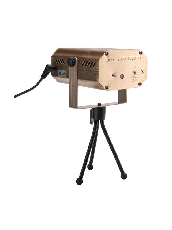 Mini proiector laser pentru interior, Holly, 6 x 12 cm, BC0057, lemn, Maro imagine