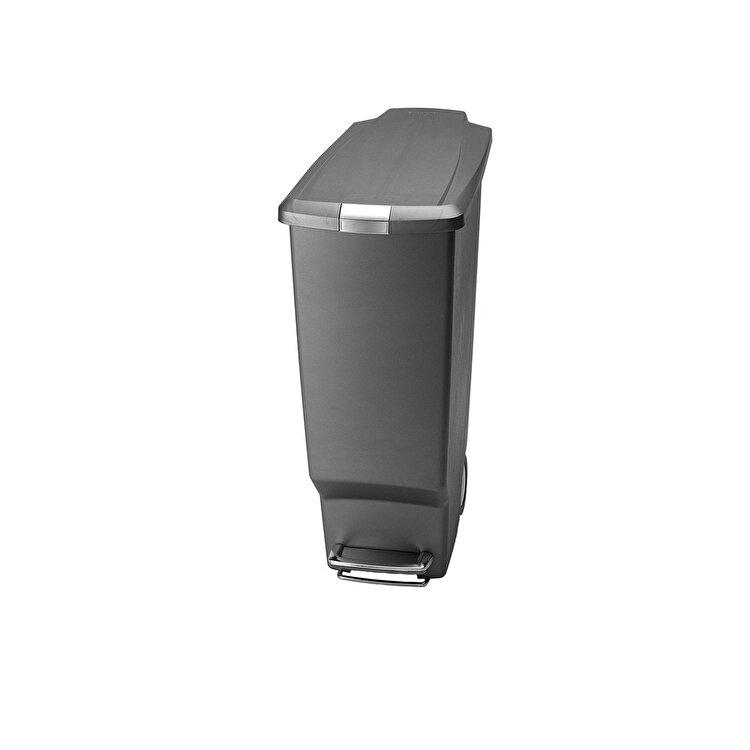 Cos de gunoi cu pedala, SimpleHuman, 40 L, CW1363, plastic, Gri