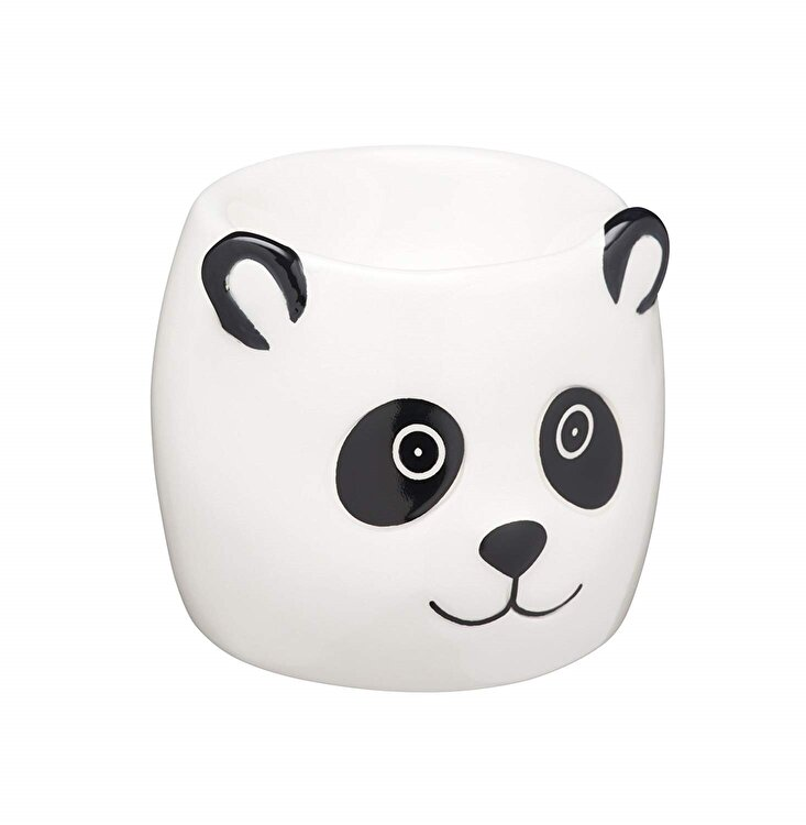 Suport oua fierte panda, Kitchen Craft, 6 cm, KCEGGPANDA, ceramica, Multicolor