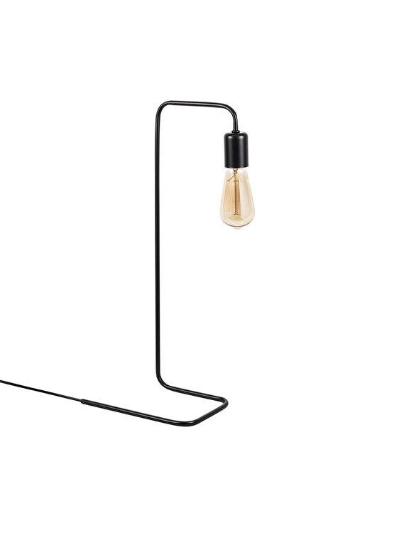 Lampa de masa, Opviq, E27, 28 x 55 x 17 cm, 892OPV1103, metal, Negru imagine