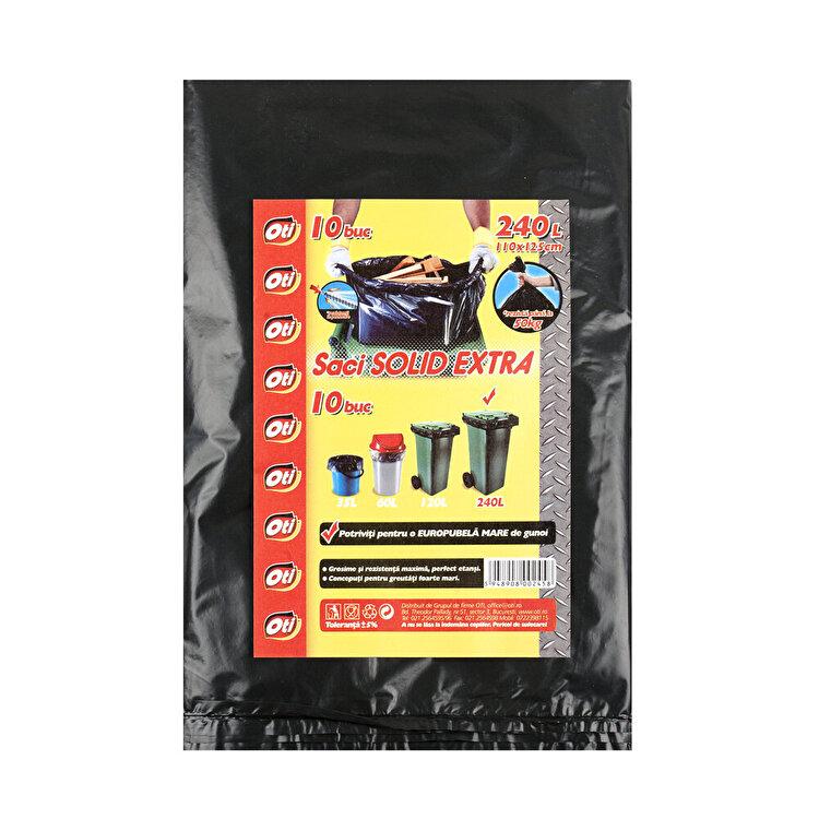 Saci menaj OTI, SOLID EXTRA 240 L, 10 buc./pachet, Negru elefant
