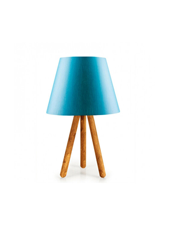 Veioza, Insignio, E 27, 22 x 33 cm, 780SGN1432, lemn, Albastru imagine