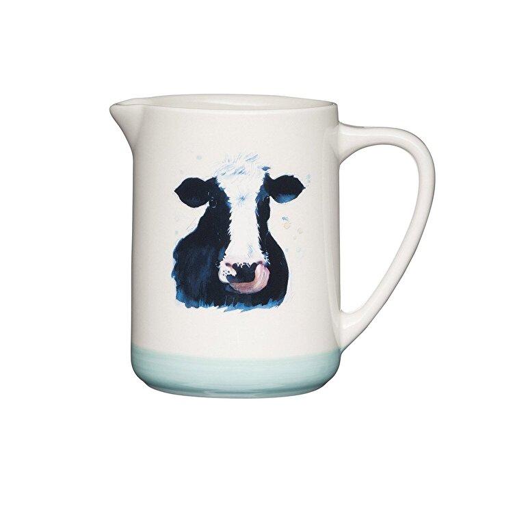 "Carafa ""Apple farm"", Kitchen Craft, Cow, 500 ml, AFJUG500, ceramica, Multicolor imagine"