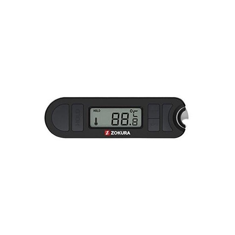 Termometru carne cu defacator capace, 20-300 grade C, Z1180, Zokura, Negru imagine