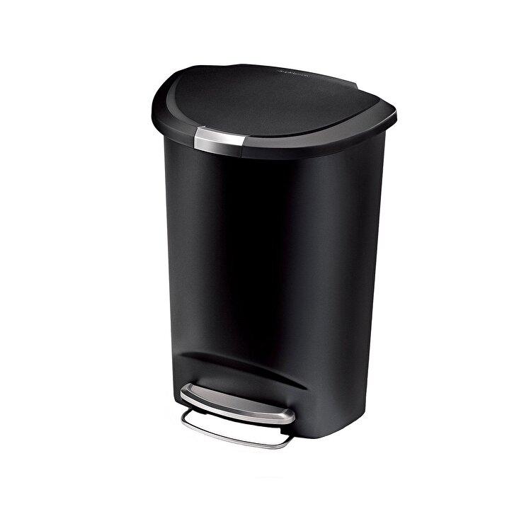 Cos de gunoi cu pedala, SimpleHuman, 50 L, CW1355, plastic, Negru