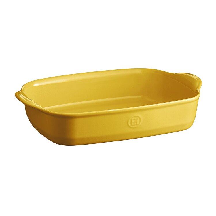 Tava Provence yellow, Emile Henry, 36.5 x 23.5 cm, 965290, ceramica, Galben imagine