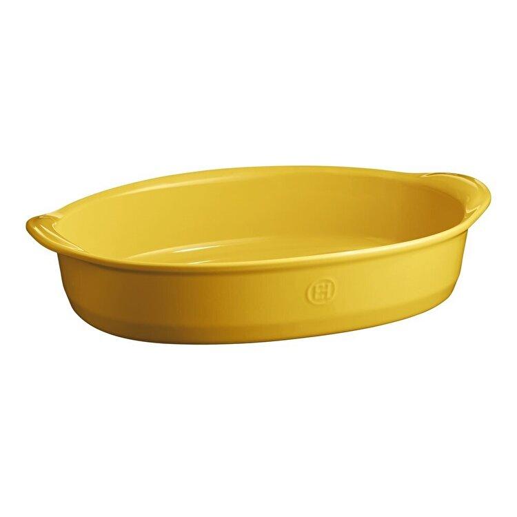 Tava ovala, Provence yellow, Emile Henry, 41.5 x 26.5 cm, 905490, ceramica, Galben imagine