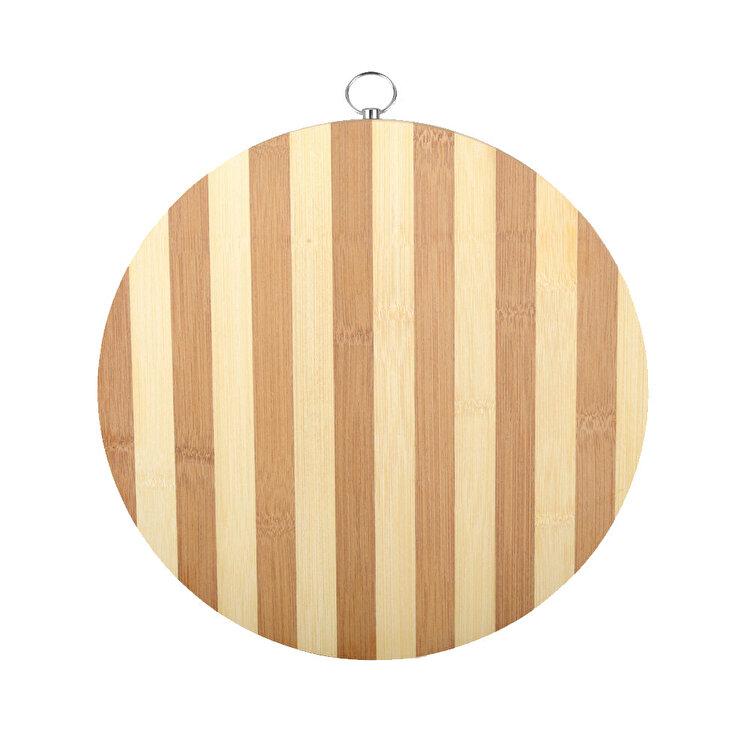 Tocator rotund, OTI, 25 cm, bambus, Maro imagine
