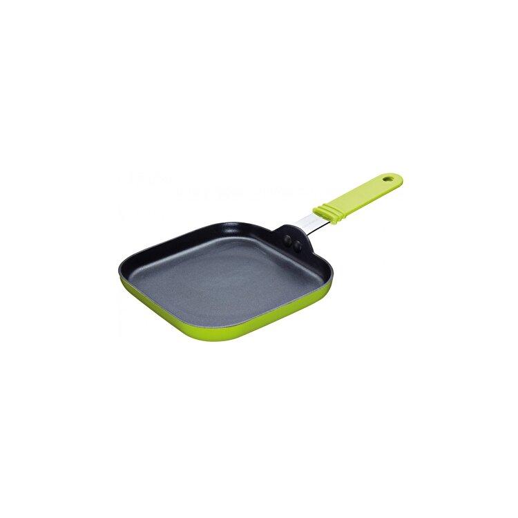 Mini tigaie patrata, Kitchen Craft, 14.5 cm, CWSQFRYDISP12, Verde imagine