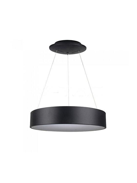 Pendul LED SMD, V-TAC, 20W, 3993, Dimabil, 3000K, Negru imagine