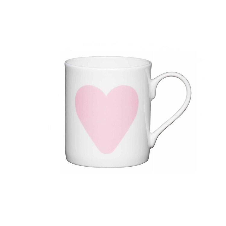 "Cana ""Big pink heart"", Kitchen Craft, 250 ml, KCMMINI04, portelan, Multicolor"