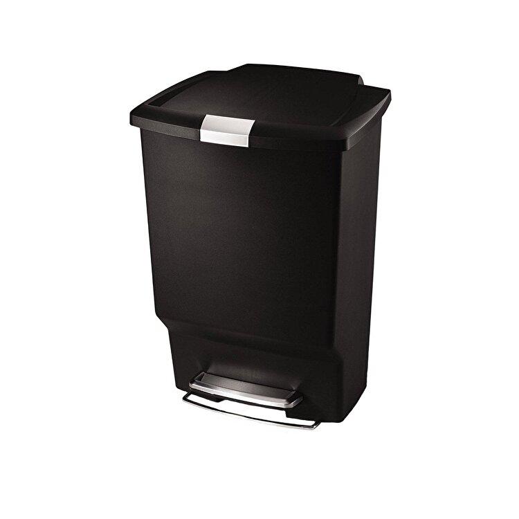Cos de gunoi cu pedala, SimpleHuman, 45 l, CW1371, plastic, Negru