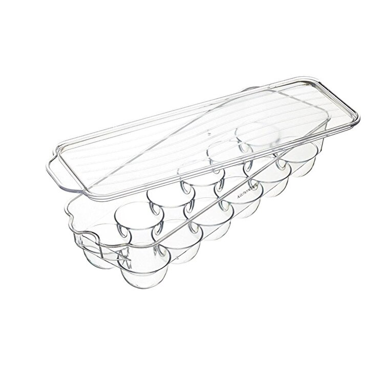 Recipient plastic oua, Kitchen Craft, 32.5 x 11.5 cm, KCFSTORE12, plastic, Incolor