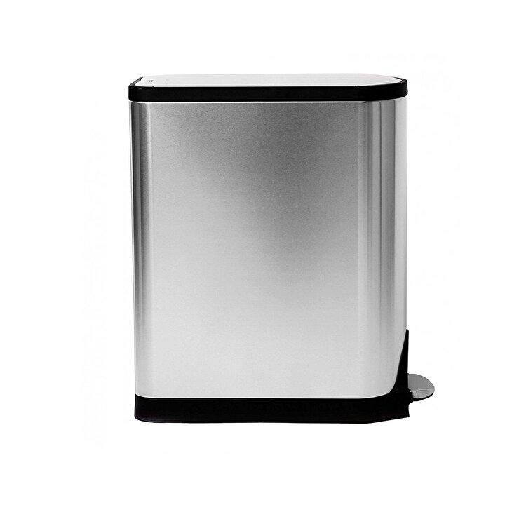 Cos de gunoi cu pedala, SimpleHuman, 45 L, CW1897, inox, Argintiu