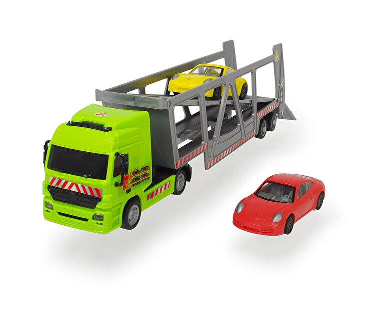 Set camion transportor cu 2 masinute, Dickie Toys