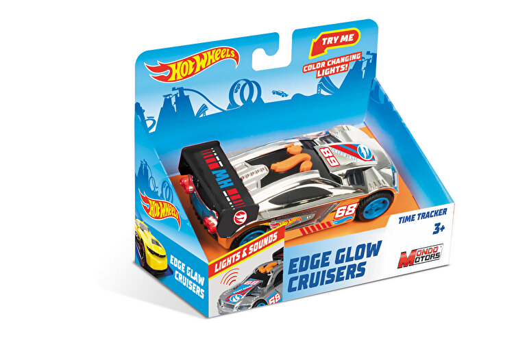 Masinuta cu lumini si sunete Hot Wheels, Time Tracker gri