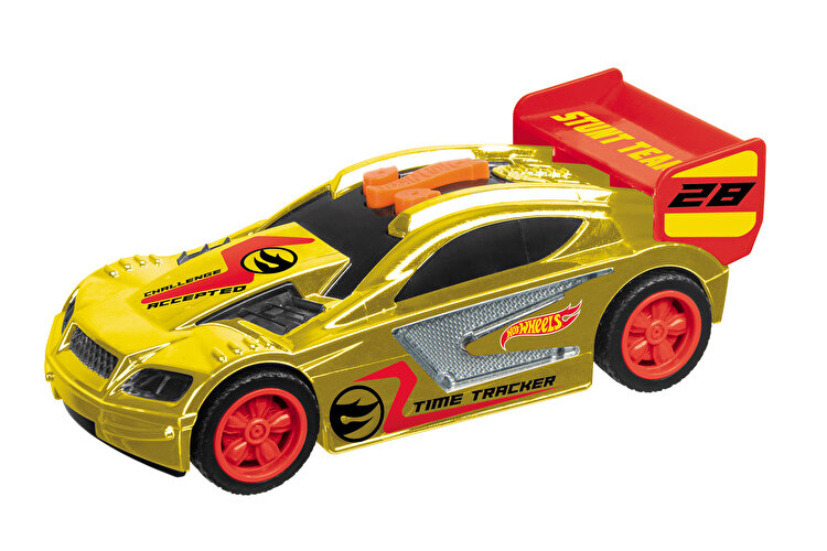 Masinuta cu lumini si sunete Hot Wheels, Time Tracker auriu