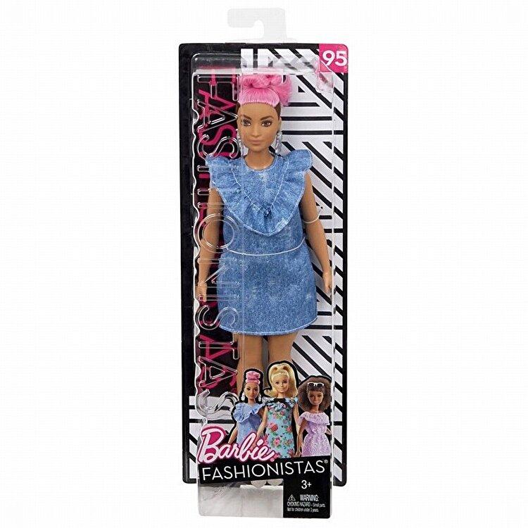 Papusa Barbie, fashionista cu coc roz