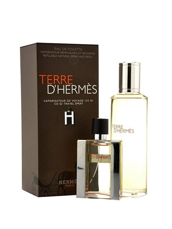 Set cadou Terre D'Hermes (Apa de toaleta 30 ml + Apa de toaleta refill 125 ml), 30 ml, Pentru Barbati