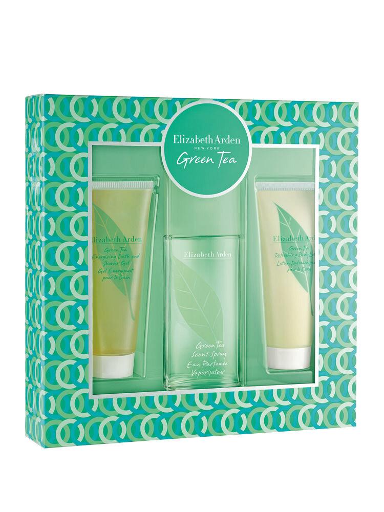 Set cadou Green tea (Apa de Parfum 100 ml + Lotiune de corp 100 ml + Gel de dus 100 ml), Pentru Femei
