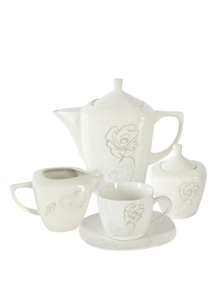 Serviciu 17 piese, pentru servirea cafelei - Romancia title=Serviciu 17 piese, pentru servirea cafelei - Romancia