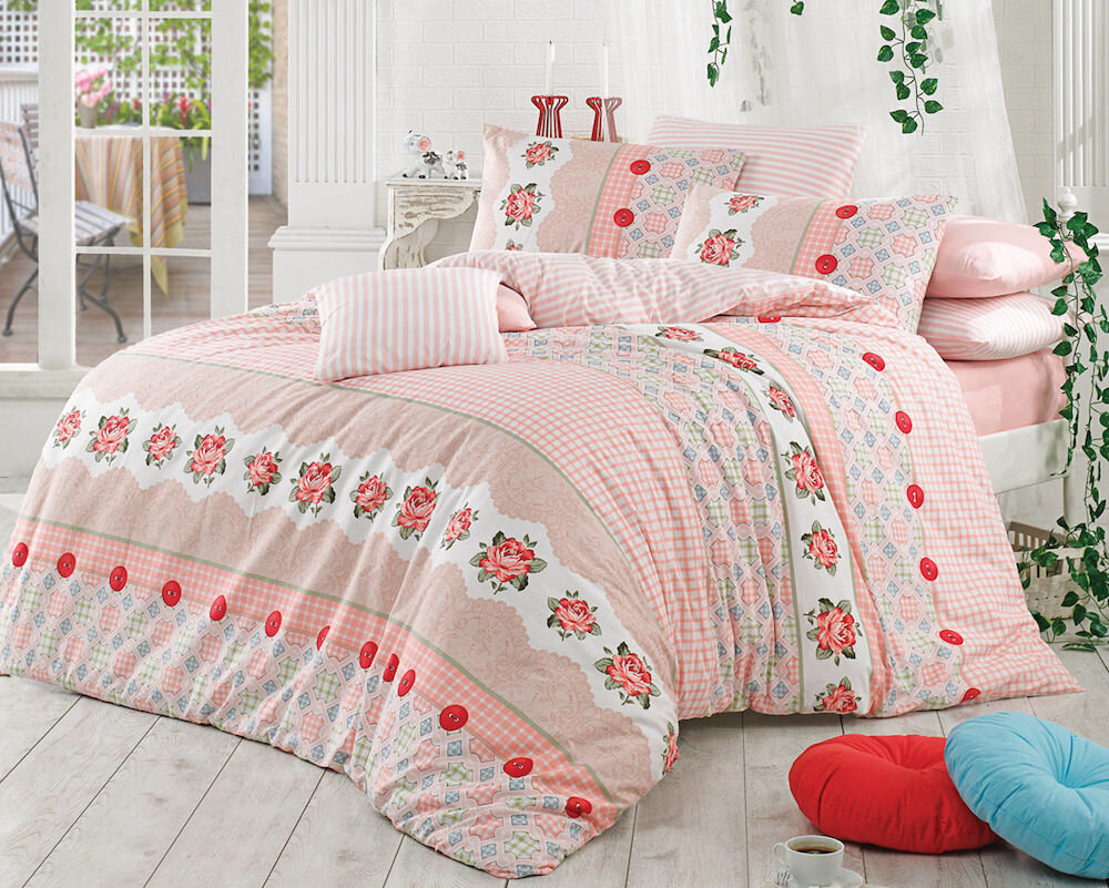 Lenjerie de pat, Majoli Bahar Home Collection, material: 100% bumbac, 110BHR2672