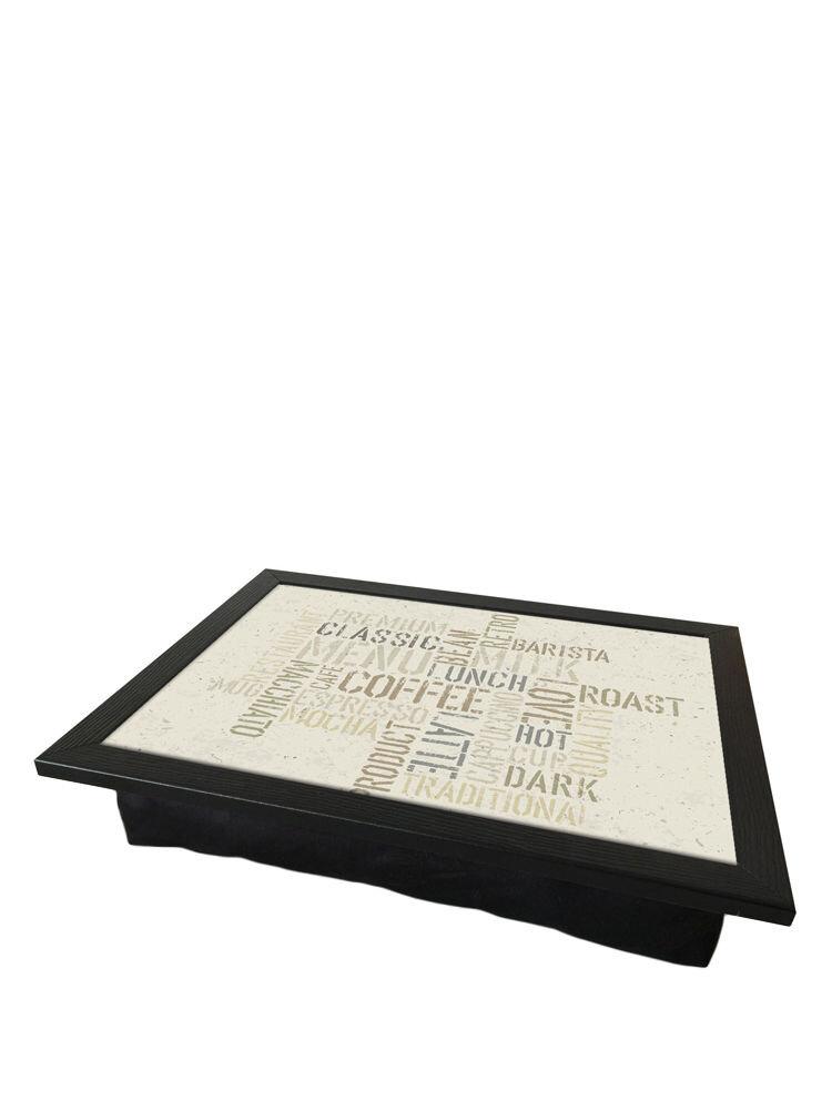 Tava cu perna, pentru servire - Coffee, 36 x 46 cm