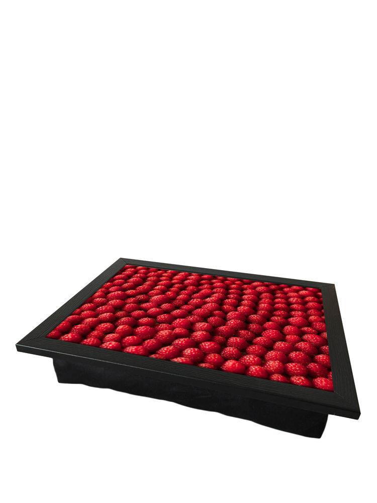 Tava cu perna, pentru servire - Raspberries, 36 x 46 cm