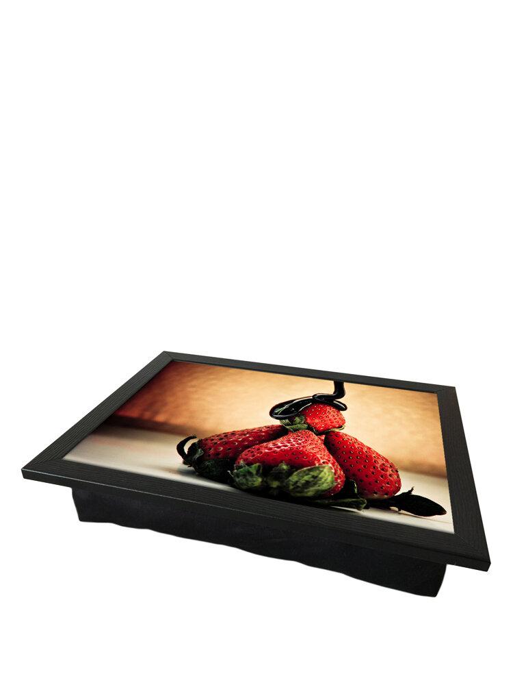 Tava cu perna, pentru servire - Strawberries, 36 x 46 cm