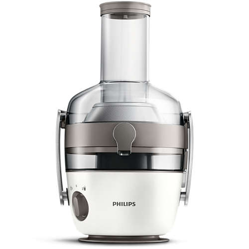 Storcator de fructe si legume Philips Avance Collection HR1918/80, 1000 W, Recipient suc 1 l, Recipient pulpa 2.1 l, 2 Viteze Fiberboost, Tub de alimentare XXL 80mm