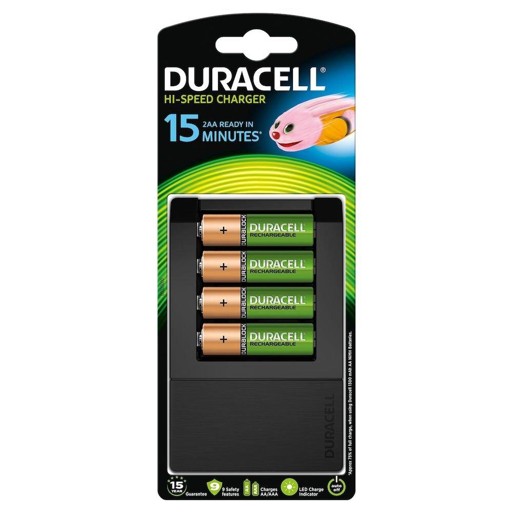 Incarcator Duracell CEF15+Acumulatori Duracell AAK4 1300mAh